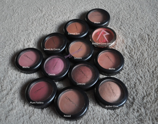 MAC blushes labelling